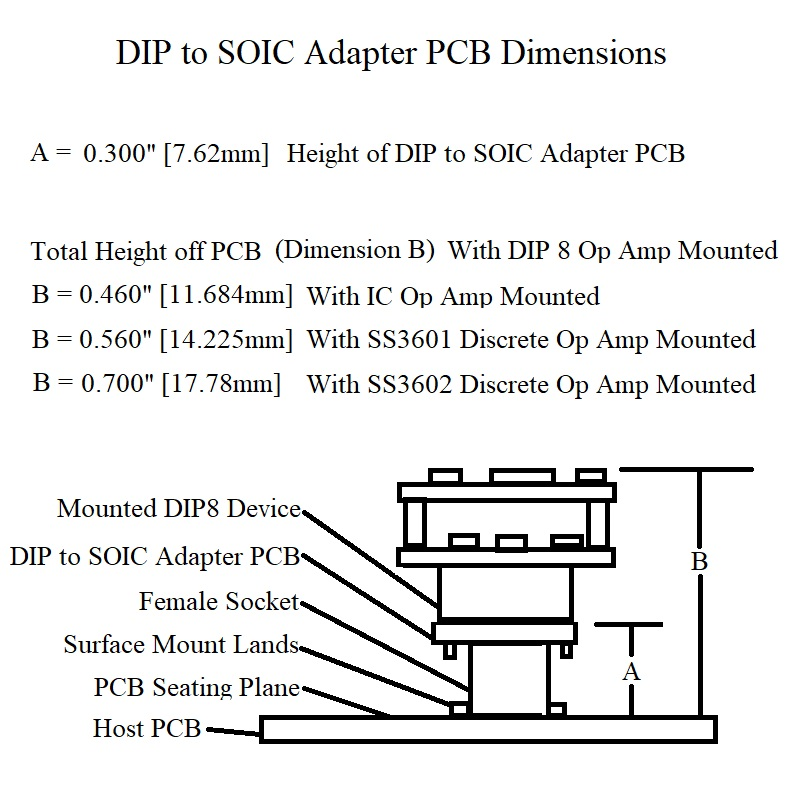 Dip to Soic Adapter DImensions